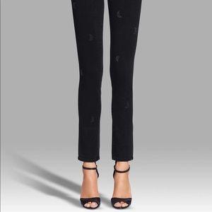 Paige Skyline Ankle Peg Embellished lunar black